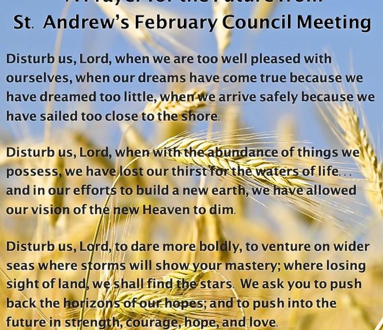 St. Andrew's leadership at prayer