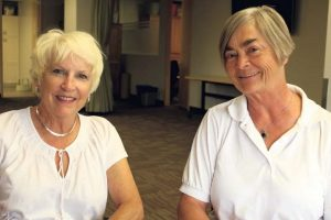 Calgary Senior Wendy Campbell and Marion Wolff