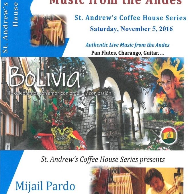 Announcing the St. Andrew's Coffee House Series – 2016-17