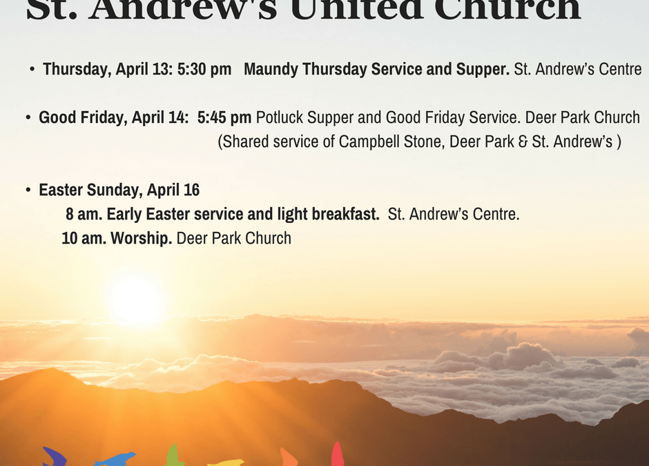 Holy Week and Easter Worship Services