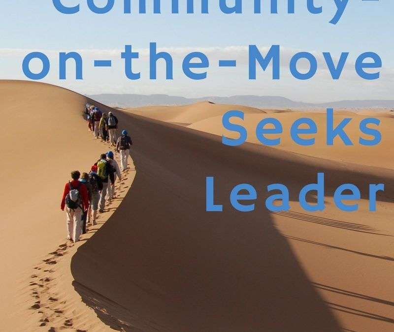 Community-on-the-Move Seeks Leader