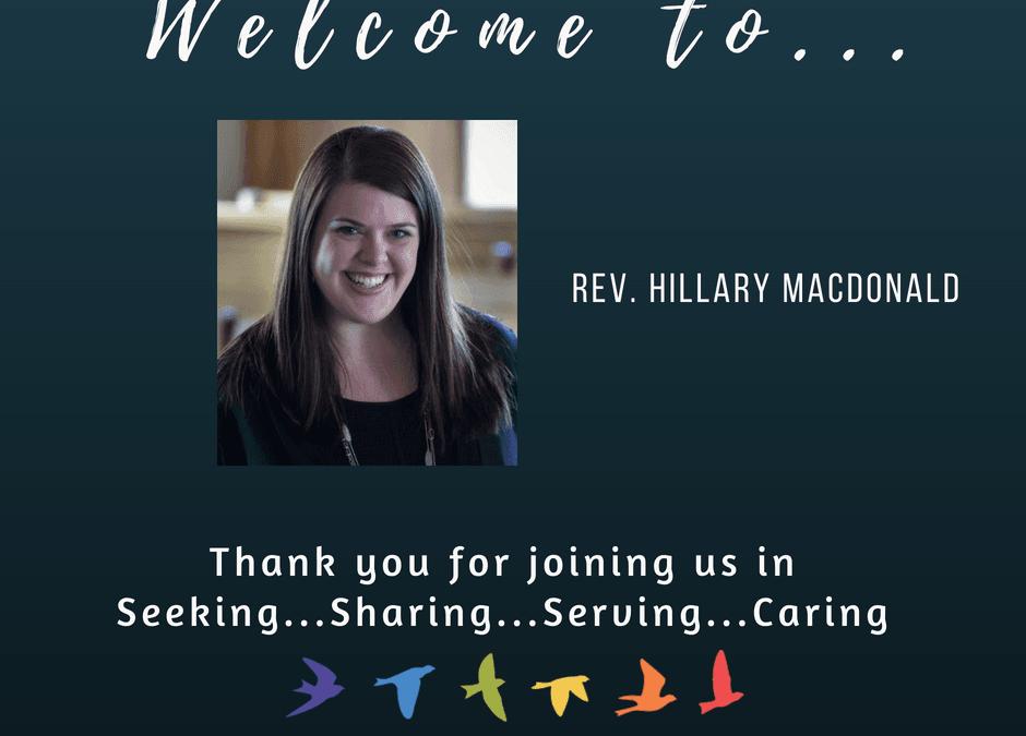 Welcoming Rev. Hillary MacDonald
